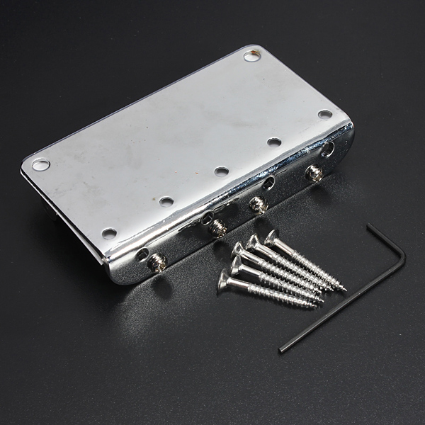 HOT 8X Silver Chrome 4 String Electric Bass Guitar Bridge + 5 Screws + Wrenche<br>