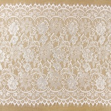3 meter / lot  Eyelash Lace Fabric 53cm White Black DIY Exquisite Lace Embroidery Clothes Wedding Dress Accessories