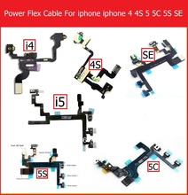 Genuine Mute &Volume& Power Flex Cable for iPhone 4 4S 5 5S 5C Volume button & power switch on/off ribbon flex cable replacement(China)