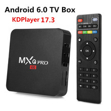 2017 New MX PRO KODI 17.3 Android 6.0 TV Box Amlogic S905X Quad Core 1GB/8GB H. 265 4K 1080i/P Smart Media Player MXQ PRO PK X96