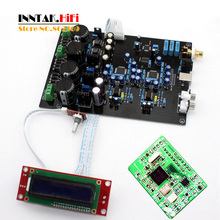 AK4495SEQ *2 + AK4118 + XMOS USB soft control DAC decoder board with LCD display support DOP DSD , (Dual AC12V-0-12V)(China)
