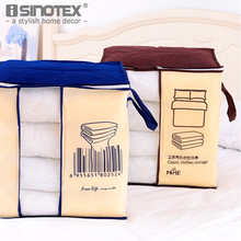 New Fashion Non-woven Fabric Portable Storage Bag Organizer Case Folding Closet Pillow Quilt Blanket Bedding 6 Colors 46x51x28CM(China)