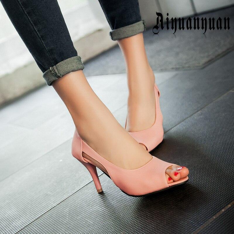 2017 free shipping women large sandals European plus size 42 43 44 45 46 47 48 49 50 peep toe lady PU shoes mature style pumps <br>