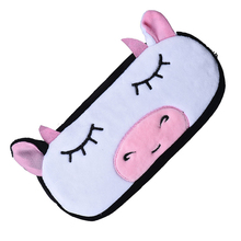 Affordable Kids Cartoon Pencil Case Plush Large Pen Bag Cosmetic  Cartoon Storage Bag Cow Shape