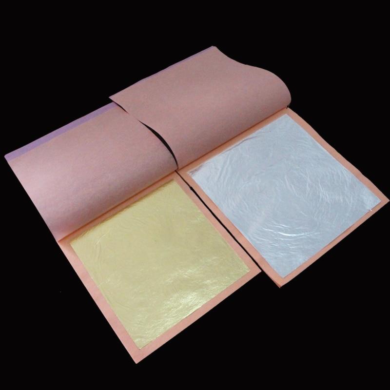 50 Feuilles d/'ARGENT 50 Sheets SILVER Foil Leaf 8 cm x 8 cm !