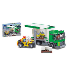 Kazi City trucks Express car Building Blocks Bricks Educational Toys Compatible with famous brand City Kids Christmas gifts(China)