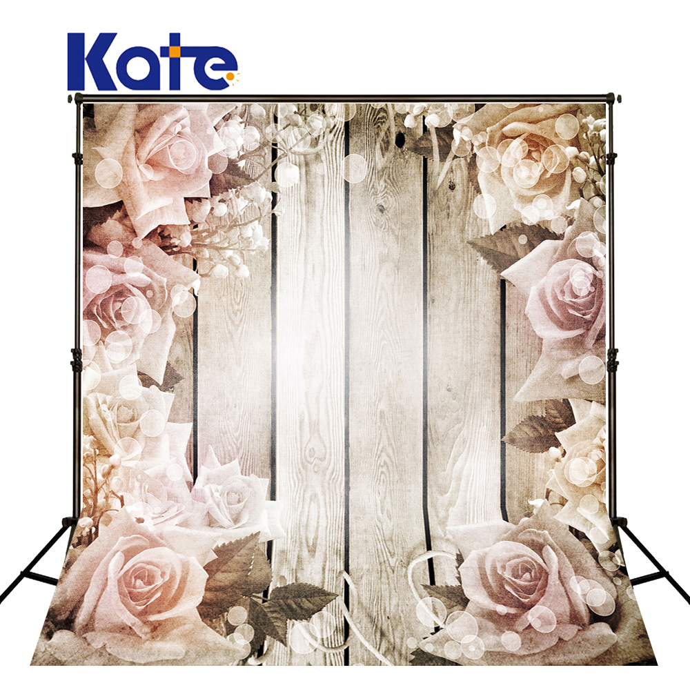 5x7ft Kate Anniversary Wedding Background Wood White Flower Multi-size Reable Background Wedding Romantic For Photography Studio<br>