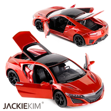 High quality New 1:32 Scale Acura NSX Metal Alloy Diecast Car Model Toy With Pull Back Sound Light For Kids Gifts Free Shipping