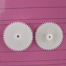 30pcs 48+10teeth 2mmhole double gear/plastic gears/reduction gear/diy toy accessories technology model parts rc car robot 48102B