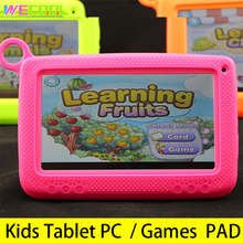 WeCool Kids Games Tablet PC 7 Inch Android 4.4 Quad Core 8GB HD Screen Children Education Learning PAD with Silicon Bracket Case(Hong Kong)
