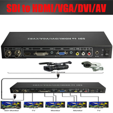 SDI,3G-SDI to HDMI/DVI/VGA/AV converter Scaler splitter Amsplifer up to 100M SDI to ALL video converter