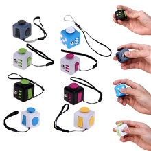 Fun Fidget Magic Cubes with Strap Indoor Hand Finger Press Game Stress Anxiety Relief Toy Fidget Cubes Puzzle Magic Toy
