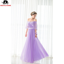 2017 Cheap A-Line Light Purple Bridesmaid Dresses Sashes Sleeveless Bridesmaid Dress Gown Real Photo In Stock dress US4-US16