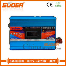Suoer 600W Solar Power Inverter 12V 220V LCD Display Off Grid Inverter With Anti Reverse Connection(SAA-D600AF)