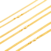 "NEW HOT SALE Men Gold-color Cuban Curb Chain Necklace Jewelry 24"" 60CM(China)"