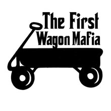 "12.4CM*10.2CM ""The FIRST Wagon Mafia"" Funny Reflective Car Decoration Car Stickers And Decals For Black Sliver"