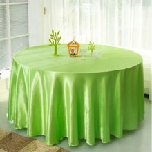 10pcs Light green 120 Inch Round Satin Tablecloths  Table Cover for Wedding Party Restaurant Banquet Decorations