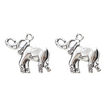 Buy 10pcs/lot Elephant Charms Vintage Animal Pendant Metal Charms Jewelry Making Accessories Crafts Handmade 25*20mm for $1.40 in AliExpress store