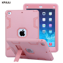2017 New Shockproof Case for iPad Air 1 Air1 5 Kids Kickstand Armor Heavy Duty Silicone 360 Protective Case Cover for iPad Air 1(China)
