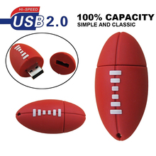 Cartoon football basketball tennis usb flash drive silicone sports ball pendrive storage device Pen drive 4gb 8g 16g 32g U disk(China)
