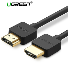 Ugreen Slim HDMI Cable HDMI to HDMI Cable HDMI 2.0 4K 3D for Apple TV PS3 Projector HD LCD Computer Cables 0.5M 1M 1.5M 2M(China)