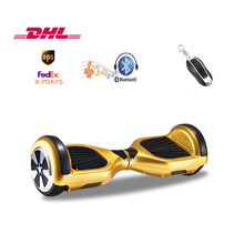 Bluetooth music Self balancing electric Scooter 2 Wheels Hover board with Bumper Strips Led Light Remote Control free freight