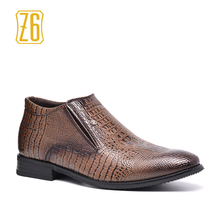 2018 Ankle boots Size 40 ~ 45 Z6 Brand 가죽 남성 가 Shoes # R5368(China)