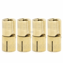 Invisible Hinge 14mm Brass Barrel Cabinet Cylindrical Hidden Concealed 4Pcs MAY15_30