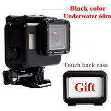 GO PRO Classic Black Color Gopro Underwater 60M Diving Waterproof Housing Case Hero 5 with Touch Screen Back Cover for Gopro 5