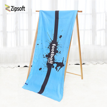 Zipsoft Beach towel Brand 2018 Football Time Serviette Plage Microfiber Large Compressed Towels Swimming Camping Sports Blanket(China)