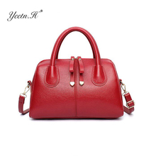 Yeetn.H Women Fashion Pu Leather Bag Casual Ladies Handbag Shoulder Bags Women Boston Bag High Quality Female Tote Bag Y578(China)