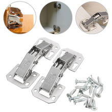 2pcs 90 Degree Cabinet Hinge Bridge Shaped Spring Frog Hinge Full Overlay Cupboard Door Hinges Furniture Hinges Hardware Mayitr