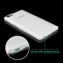 Phone Bag Case For Huawei Honor 4C 5C 5X Y6 II Ultra Thin Soft Silicone Case With Dust Plug For Huawei Honor 4C Case