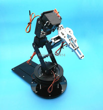 Metal Alloy 6 DOF Robot Arm Clamp Claw & Swivel Stand Mount Kit With 6pcs MG996R Servo For Arduino Best Price + Free Shipping(China)