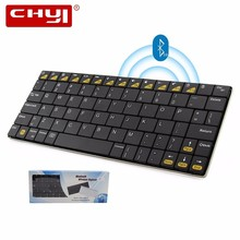 CHYI Bluetooth Wireless Keyboard Mini Gaming Bluetooth Keybaord Rechargeable Key Board For Apple IPad/iPhone Mac Book/Samsung(China)
