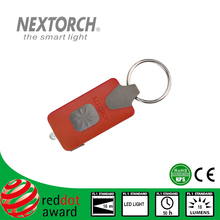 NEXTORCH GL10 Red ANSI NEMA Shockproof 18 Lumens Rechargeable EDC Led Keychain Torch Flashlight
