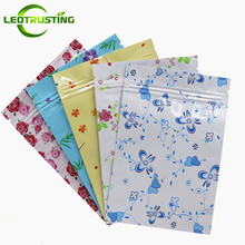 Buy Leotrusting 100pcs 10x15cm Glossy Flower Aluminum Foil Ziplock Bag Flat Bottom Metallic Mylar Herbal Pouch Fidget Spinner Bag for $13.90 in AliExpress store