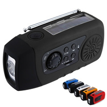 N29TF Portable Speaker Emergency Solar Hand Crank FM Radio MP3 Player Flashlight Phone Charger Support TF Card for Outdoor