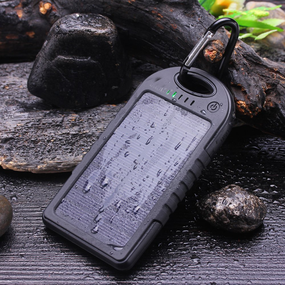 Solar Charger 5000mAh Portable Solar Power Bank Waterproof/Shockproof/Dustproof Dual USB Battery Bank for cell phone(China (Mainland))