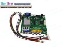 4 pcs of RGB/CGA/EGA TO VGA Converter Board with one output-Video Board for arcade game machine