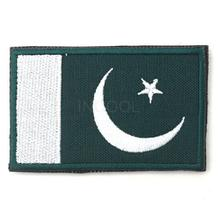 Embroidered Pakistan Flag Badge Tactical 3D Combat Badge Fabric National Flags Armband Badges