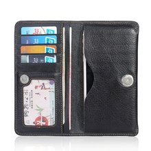 Genuine Leather Universal Wallet Purse Pouch Cover Case for iPhone 7 6 6S 5S 5 SE 5C 4 4S / 6 6S 7 Plus for Huawei for Samsung(China)