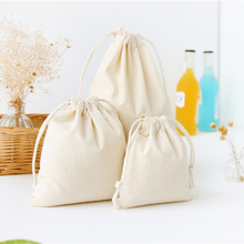 1pcs Drawstring Storage Cotton Linen Travel Storage Bags Organizer For Clothe Shoes Makeup Jewelry Organizer Coins keys Bags