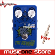 Biyang Baby Boom RV-10  blue Effects 3 Mode Tri Reverb Stereo True Bypass Electric Guitar effect Pedal with gold pedal connector