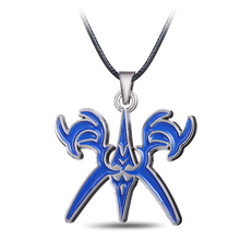 J Store Fate/Stay Night Logo Pendant Necklaces for Women Anime Collares Necklace Blue Cosplay Alloy Fashion Jewelry(China)