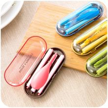 Eco-friendly Portable Tableware Food Grade Plastic Folding Foldable Fork Set Cutlery Set Outdoor Products