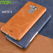 huawei mate 8 case cover MOFi original leather case huawei mate 8 accessories back cover skin business pure brown navy 6.0 inch