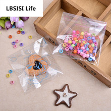 LBSISI Life 10*11+3cm 100pcs Clear Dot Cat Self Adhesive Seal Bakery Bread Plastic Gift Candy Cookie DIY Wedding Snack Bags OEM(China)