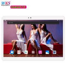 Free shipping 10 inch tablet PC Android 7.0 Phone call 3G 4G LTE 10 core RAM 4GB ROM 64GB 1920x1200 IPS GPS Dual SIM tablets Pcs