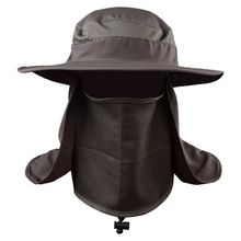 4colors UV Protection Face Neck Flap Sun Cap With Mask Headband Fishing Hiking Sun Rain Hat